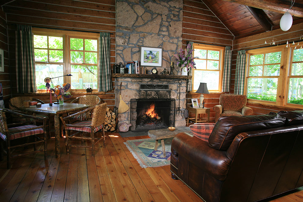 log cabin living room. Ketchum Log Cabin Living Room  Winton Marsh Mountain